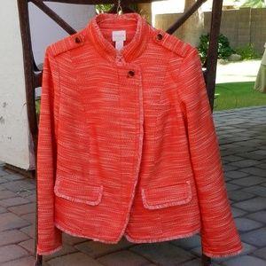 Chico's Textured Fringe Jacket NWT 0